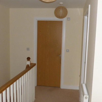 Cream hallway, decorated by MJ Harwood painters and decorators.
