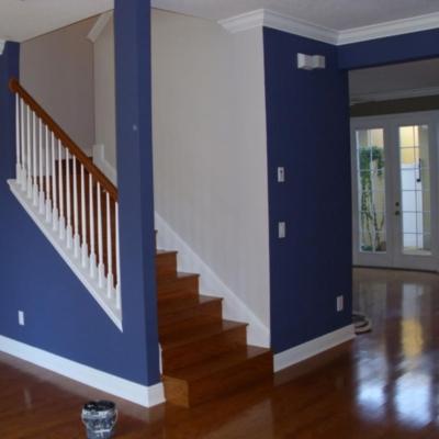 MJ Harwood, Painter & Decorator, Blue Hallway.