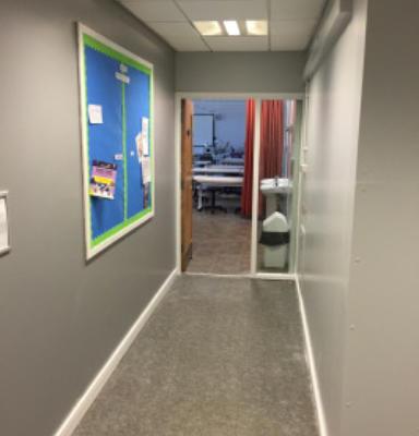 Modern hallway redecorated by MJ Harwood.