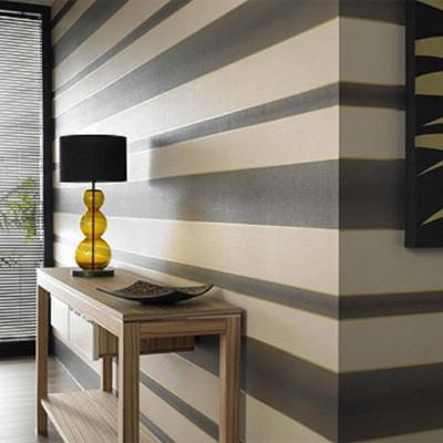Horizontal Stripes, Created by MJ Harwood painters and decorators Leeds.